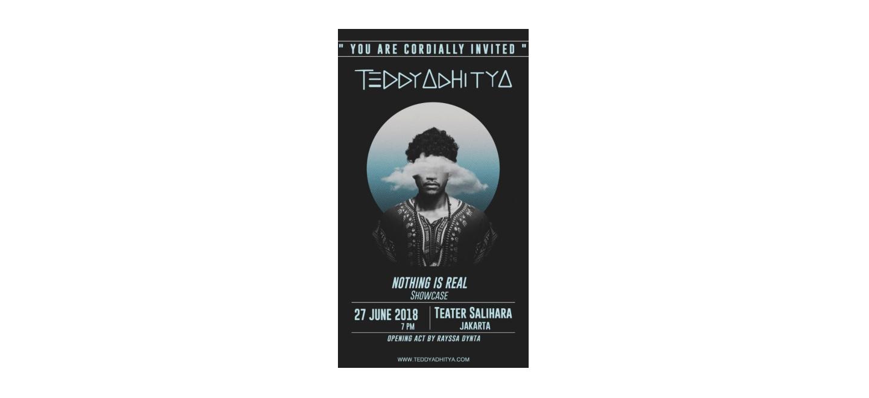 """Teddy Adhitya Siapkan Pertunjukan Merayakan Satu Tahun Album """"Nothing is Real"""""""